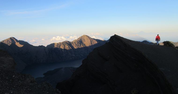 A close look at Mt. Rinjani