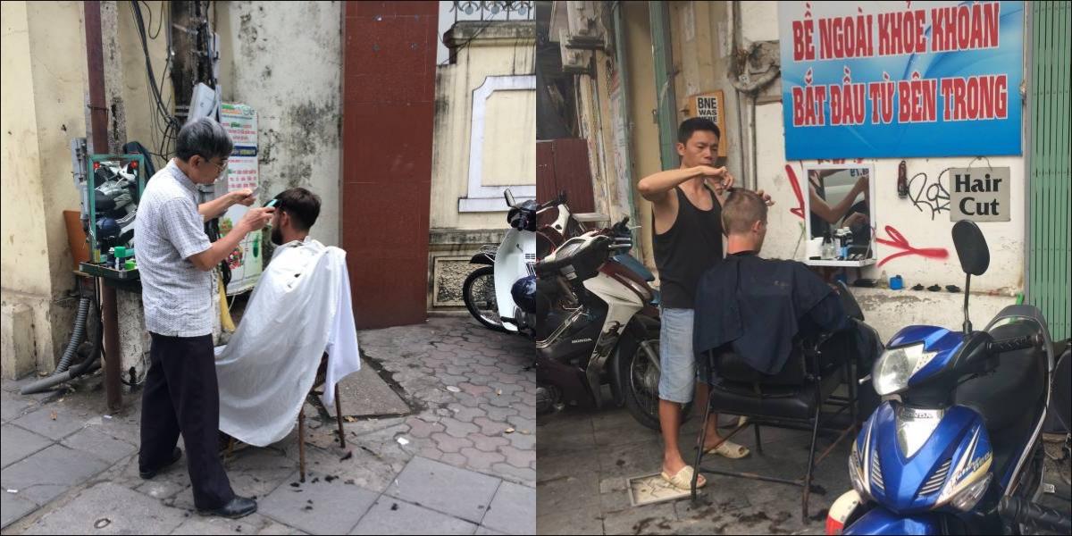 Hanoi, street barber - pinterjuco.hu
