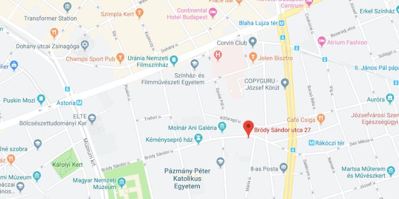 Yogayoga Budapest map