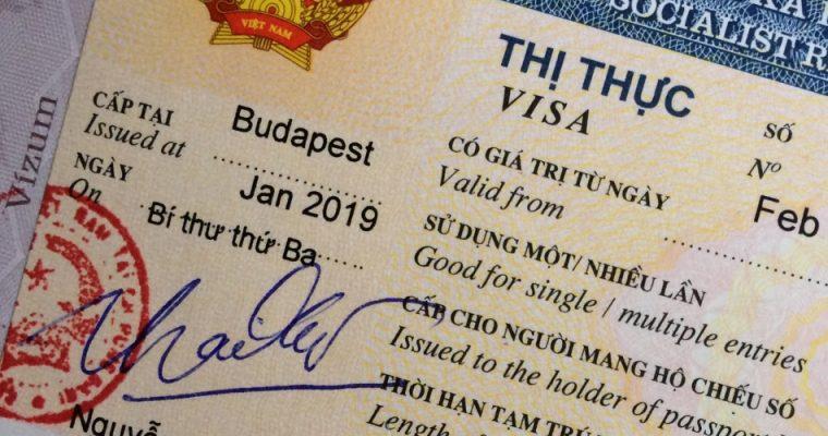 Készülődés – a vietnámi vízum
